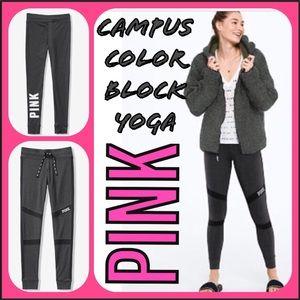 VSPINK CAMPUS TIE-WAIST COMFY COLOR-BLOCK YOGA❣️MD
